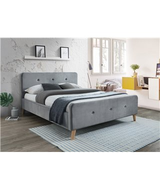 Кровать Signal MALMO Velvet (серый) 160/200