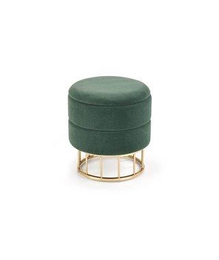 Пуф Halmar MINTY (темно-зеленый/золотой)