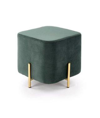 Пуф Halmar CORNO (зеленый/золотой)