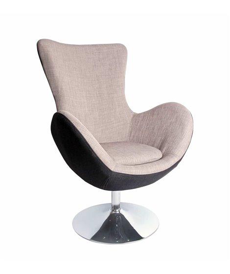 Кресло Halmar BUTTERFLY (серый)