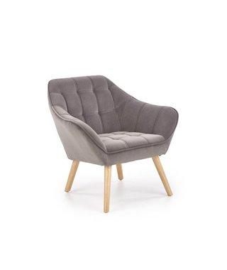 Кресло Halmar ROMEO (серый/натуральный)