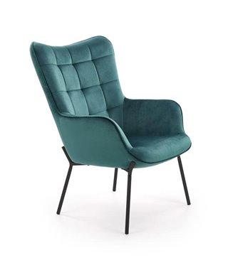 Кресло Halmar CASTEL (темно-зеленый/черный)