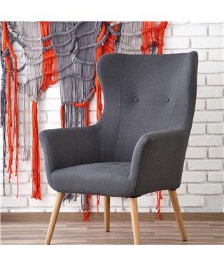Кресло Halmar COTTO (темно-серый)