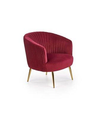 Кресло Halmar CROWN (бордовый/золотой)
