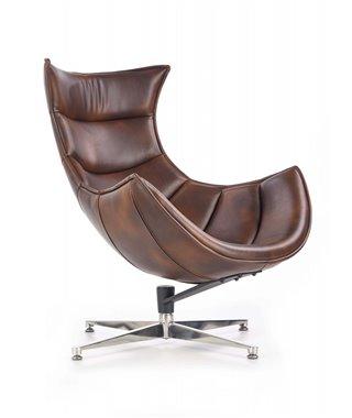 Кресло Halmar LUXOR (темно-коричневый)