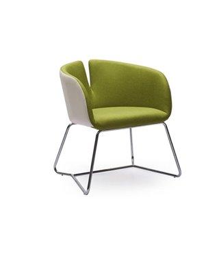 Кресло Halmar PIVOT (бело-зеленый)