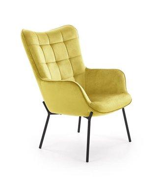 Кресло Halmar CASTEL (горчичный/черный)
