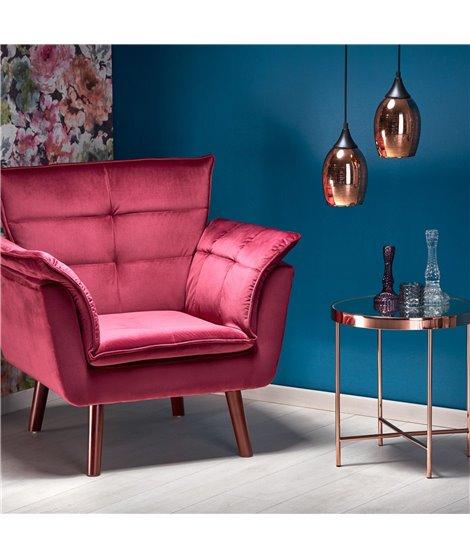 Кресло Halmar REZZO (темно-бордовый)