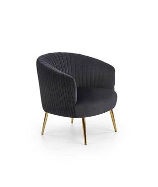 Кресло Halmar CROWN (черный/золотой)
