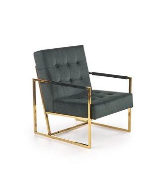 Кресло Halmar PRIUS (темно-зеленый/золотой)