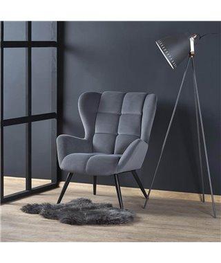 Кресло Halmar TYRION (серый/черный)