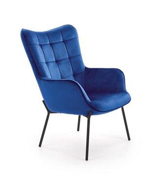 Кресло Halmar CASTEL (темно-синий/черный)