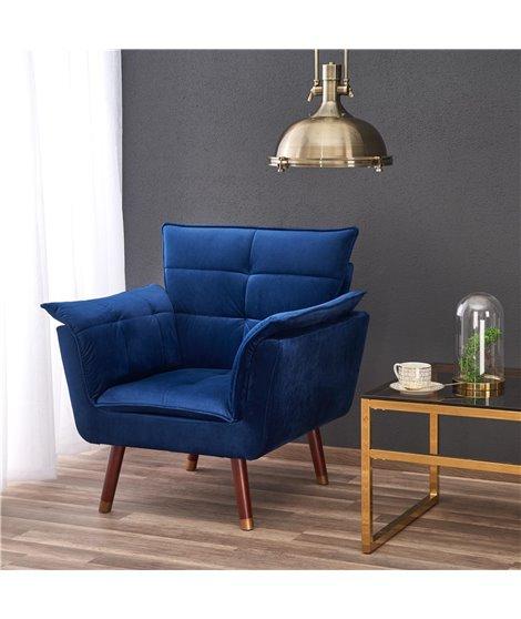 Кресло Halmar REZZO (темно-синий)