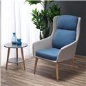Кресло Halmar PURIO (светло-серый/синий)