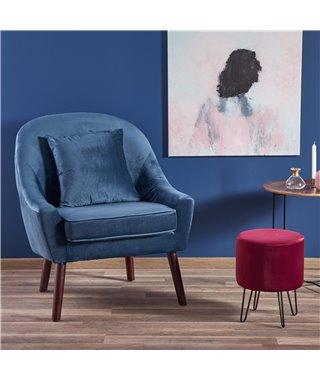 Кресло Halmar OPALE (темно-синий)
