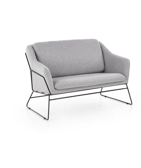 Диван Halmar SOFT 2 XL (серый/черный)