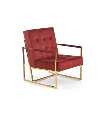 Кресло Halmar PRIUS (бордовый/золотой)