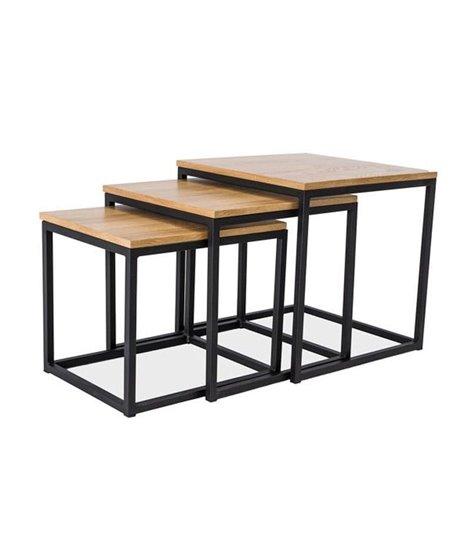 Комплект Signal TRIO, 3 стола журнальных (дуб/черный)