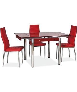 Стол обеденный Signal GD-082 80 раскладной (красный)