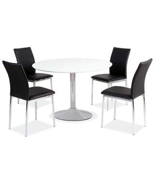 Стол обеденный Signal FLAVIO 90 (белый)