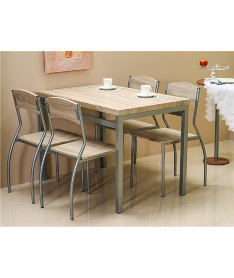 Комплект столовой мебели Signal ASTRO (стол + 4 стула, дуб сонома)
