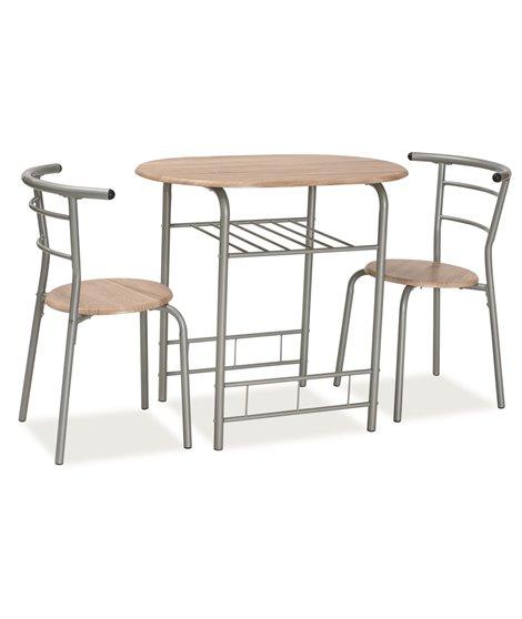 Комплект столовой мебели Signal GABO (стол + 2 стула, дуб сонома)