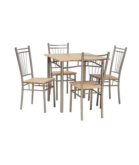 Комплект столовой мебели Signal FIT (стол + 4 стула, дуб сонома)