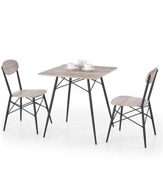 Комплект столовой мебели Halmar KABIR (стол + 2 стула, дуб сан ремо)
