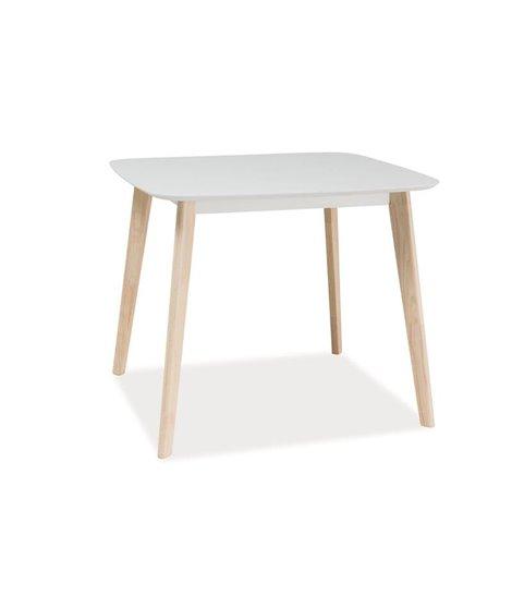 Стол обеденный Signal TIBI 90 (белый/дуб беленый)