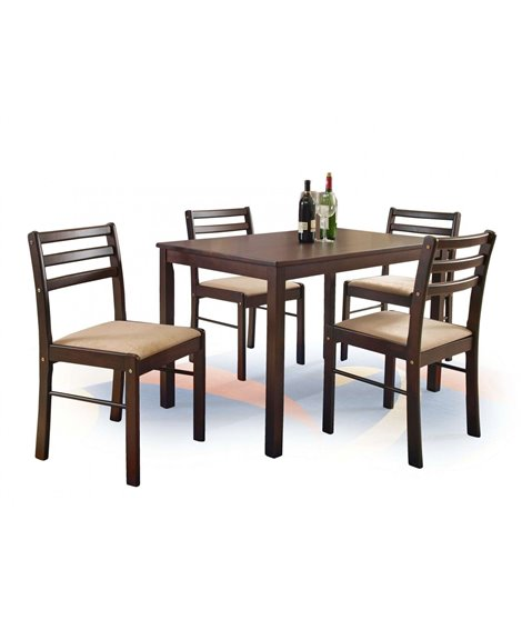 Комплект столовой мебели Halmar NEW STARTER (стол + 4 стула, эспрессо)