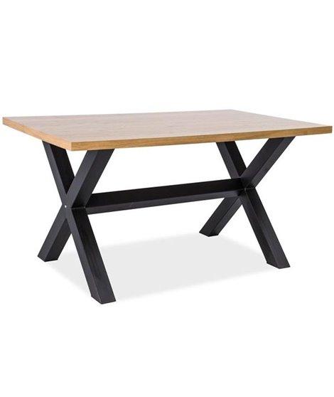 Стол обеденный Signal XAVIERO 150 (дуб натуральный/черный)