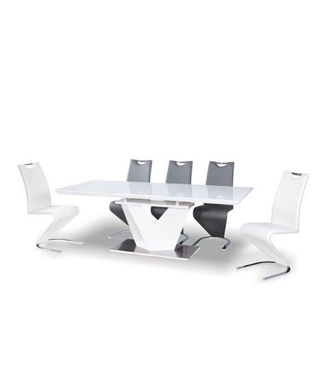 Стол обеденный Signal ALARAS III 160 раскладной (белый лак/белый)