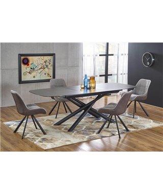 Стол обеденный Halmar CAPELLO раскладной (темно-серый/черный)