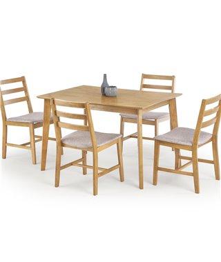 Комплект столовой мебели Halmar CORDOBA (стол + 4 стула, дуб)