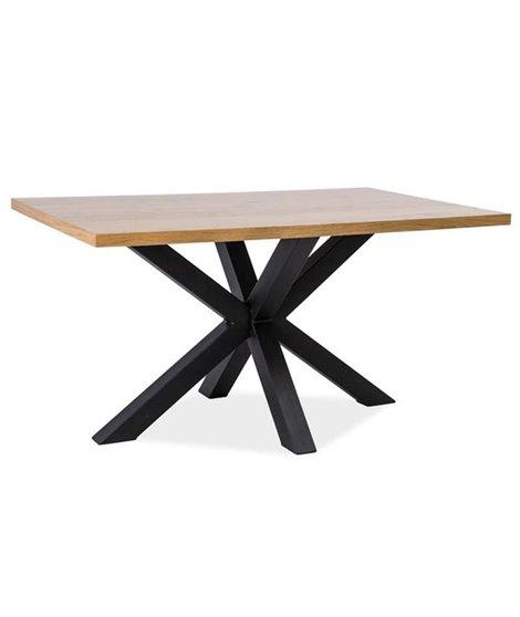Стол обеденный Signal CROSS 150 (дуб/черный)