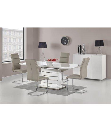 Стол обеденный Halmar ONYX, раскладной (белый)