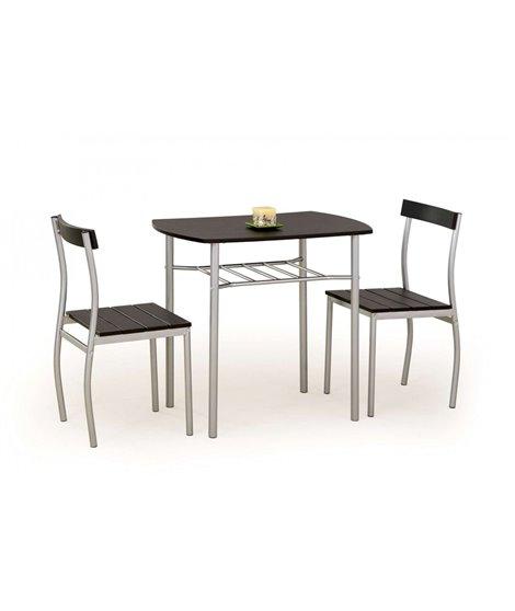 Комплект столовой мебели Halmar LANCE (стол + 2 стула, венге)