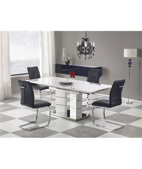 Стол обеденный Halmar LORD, раскладной (белый)