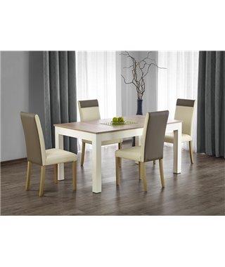 Стол обеденный Halmar SEWERYN, раскладной (дуб сонома/белый)