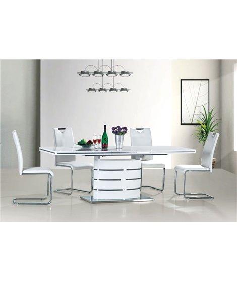 Стол обеденный Signal FANO 180 раскладной (белый лак)