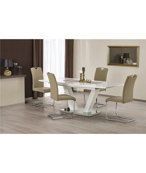 Стол обеденный Halmar VISION, раскладной (белый)