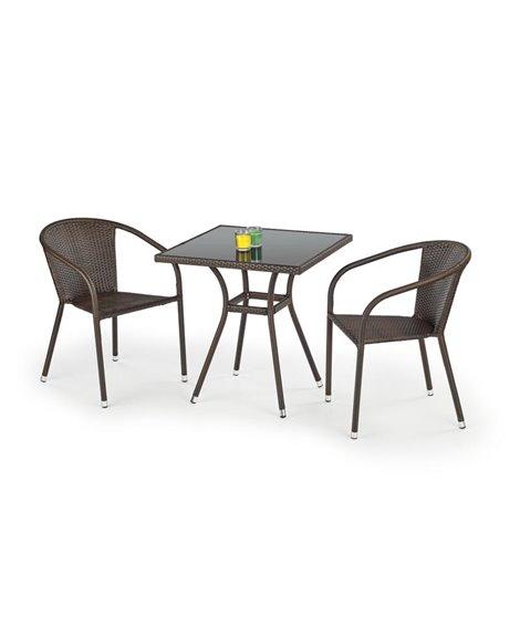Стол обеденный Halmar MOBIL ST (черный/темно-коричневый)