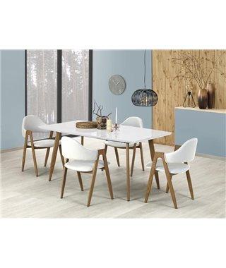 Стол обеденный Halmar RUTEN, раскладной (белый/дуб медовый)