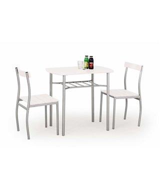 Комплект столовой мебели Halmar LANCE (стол + 2 стула, белый)
