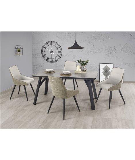 Стол обеденный Halmar HALIFAX (серый/черный)