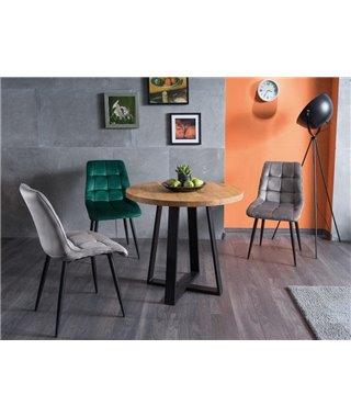 Стол обеденный Signal VASCO 90 (дуб натуральный/черный)