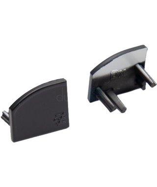 Комплект заглушек Elettrompianti Комплект заглушек для профиля MOSCA, 13050026, 2 шт., цвет черный