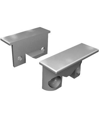 Комплект заглушек Elettrompianti 13050018, для профиля KIMERA, цвет серый, 2 шт