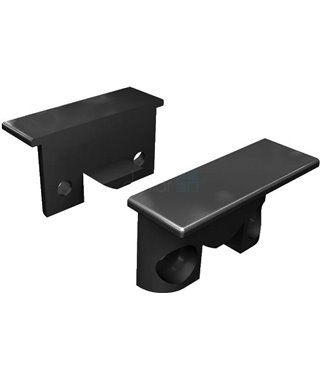 Комплект заглушек Elettrompianti 13050020, для профиля KIMERA, цвет черный, 2 шт