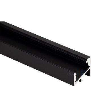 Алюминиевый профиль Elettrompianti Алюминиевый профиль MOSCA, 13050025, угловой, длина 3000 мм, цвет черный